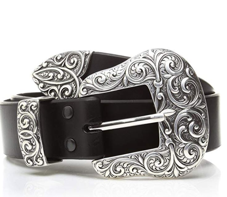 Ariat Women's Beveled Edge Silver Buckle Set Belt (linked!)