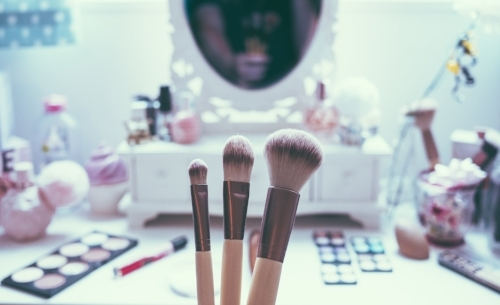 Makeup Vanity Setup