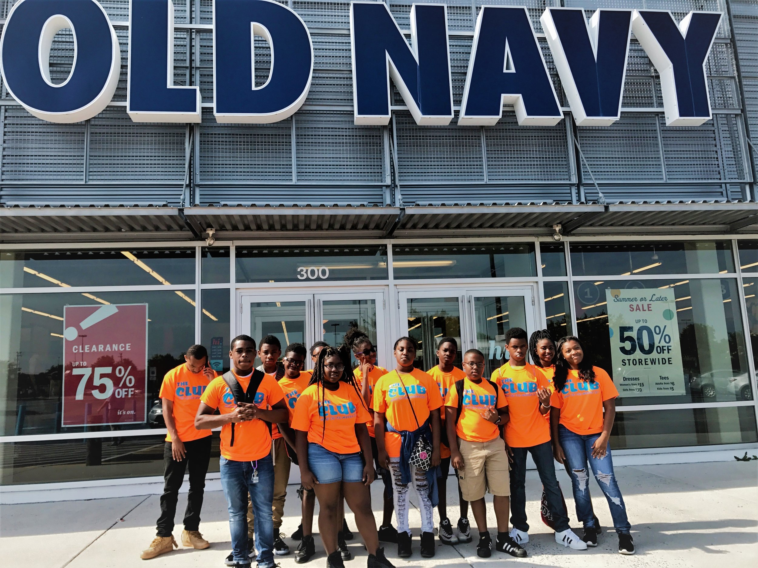 Keystone Club members participating in Camp Old Navy.