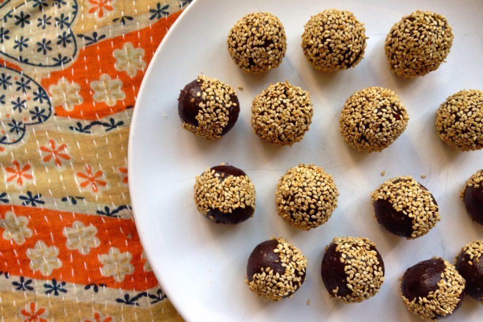 Sesame Chocolate Power Balls