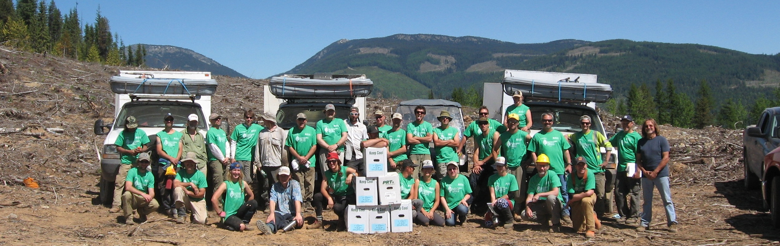 On May 20, 2015, ATCO Wood Products staff and their tree planting contractor, Greenpeaks, joined an international effort to set the Guinness World Record for the most trees planted in one hour simultaneously by teams made up of 25 to 100 people. A total number 29 teams in a variety of locations planted 202,935 trees - 7,785 which were planted by Greenpeaks and ATCO Wood Products staff.