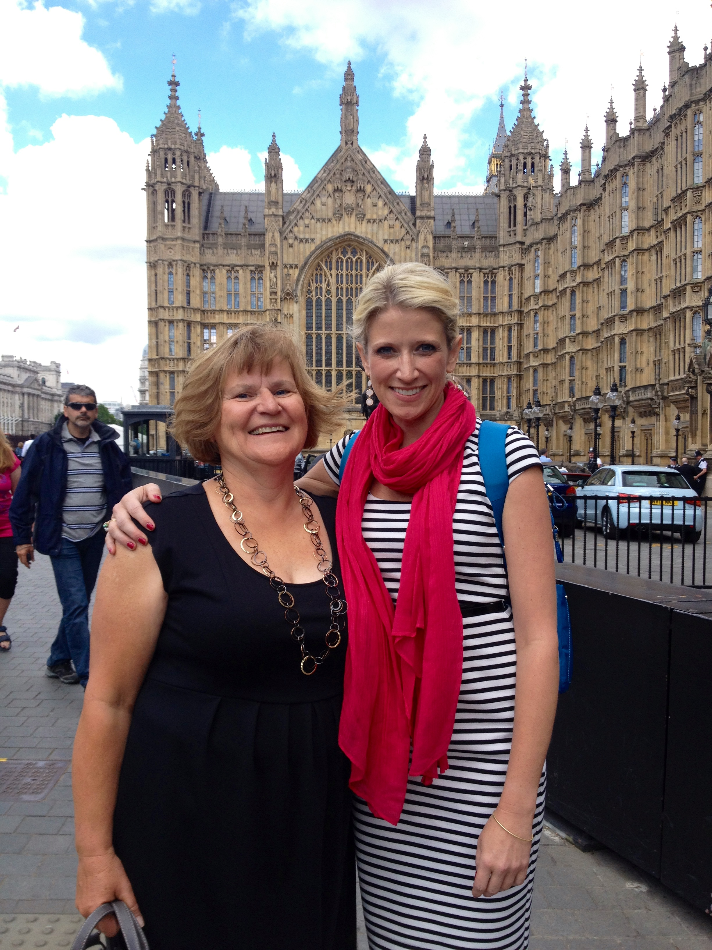 Jamie and her mom Melanie in 2014, working at Parliament in London, UK