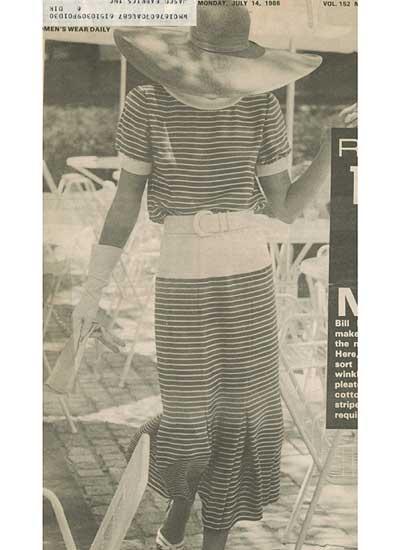Bill Blass, 1986