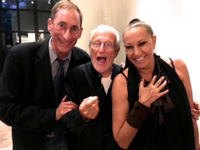 Howard Silver (left) with Stan Herman and Donna Karan