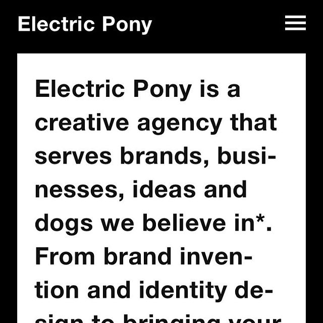 Ever wonder what an Electric Pony is, anyway? Find out the answer to this and more of life's tough questions now at electricpony.work.