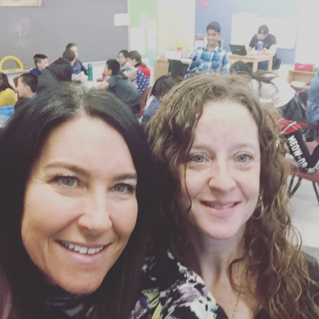 Me & my Bestie leading the JA Be Entrepreneurial with Gr 5-6;s