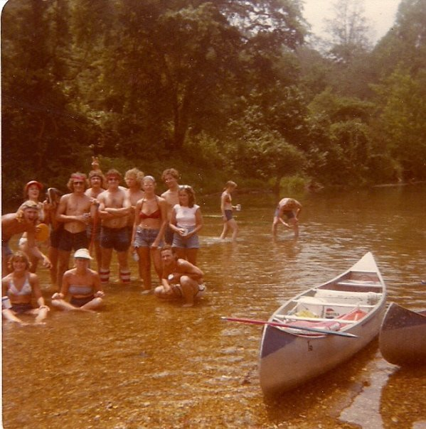 Current River, Mo 1977 Author is in back middle