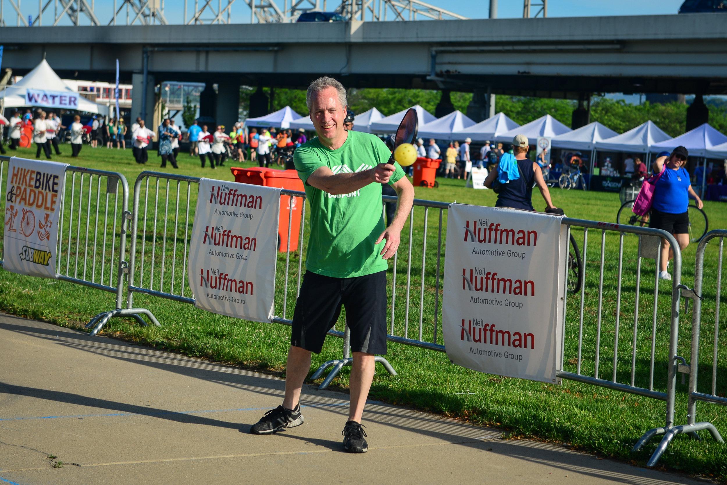 Mayor Greg Fischer at Waterfront Park
