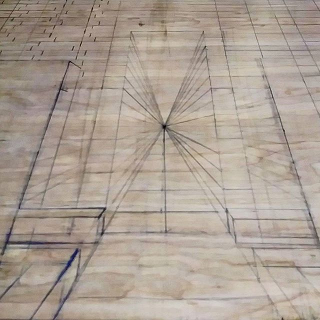 Why do i do this to myself? Becuase o want to learn. I've been getting really good at organic shapes but i always like to shake things up with some hardcore geometry. This is a small portion of a 13ft piece. Ever change it up in your practice? . . . . . . . #wip #geometry #building #precise #ruler #tower #tall #long #wood #carving #drawing #newcontemporary #dark #darkart #orlamdo #floroda #miami #poc