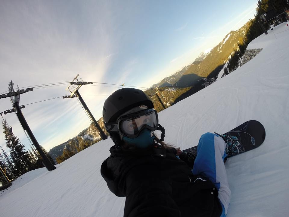 Snowboarding at Steven's Pass!