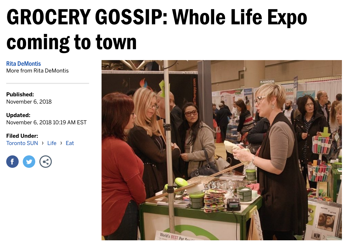 Toronto Sun - Whole Life Expo