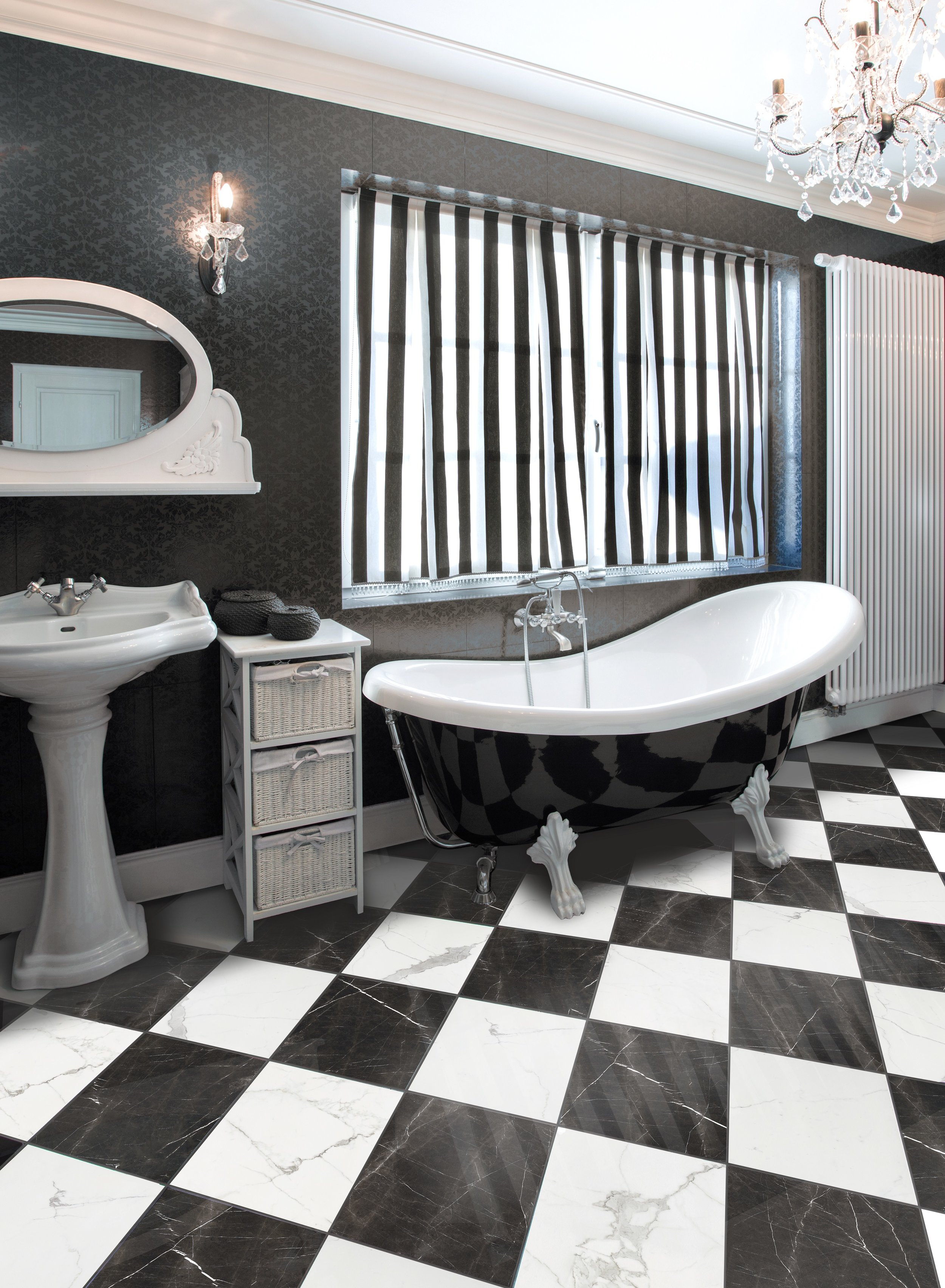 Luxury Calacatta and Nero Marquina