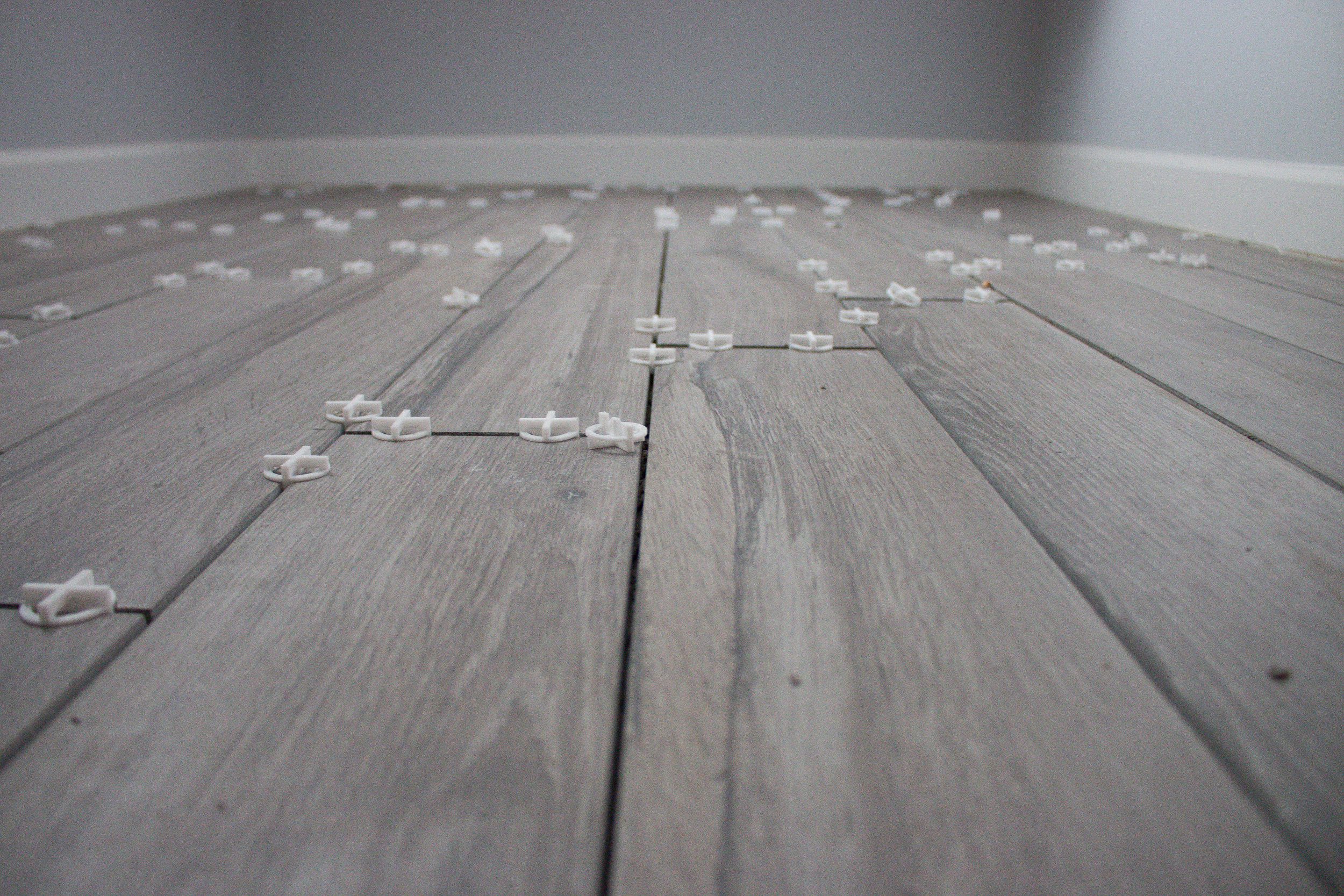 We recommend allowing your grout to dry for up to 72 hours before any heavy use of the new flooring.