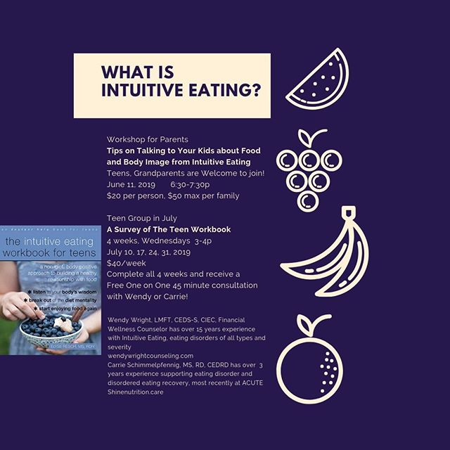 Are you a teen wondering how to make sense of food, eating, body image?! Consider joining Wendy and Carrie for 4 weeks to have some real talk around this!⠀⠀⠀⠀⠀⠀⠀⠀⠀ ⠀⠀⠀⠀⠀⠀⠀⠀⠀ Imagine finding some peace with these topics!!!⠀⠀⠀⠀⠀⠀⠀⠀⠀ ⠀⠀⠀⠀⠀⠀⠀⠀⠀ go to wendywrightcounseling.com/resources to sign up!  or send me a message here!⠀⠀⠀⠀⠀⠀⠀⠀⠀ ⠀⠀⠀⠀⠀⠀⠀⠀⠀ ⠀⠀⠀⠀⠀⠀⠀⠀⠀ #financialwellness #financialtherapy #financialtherapist⠀⠀⠀⠀⠀⠀⠀⠀⠀ #money #finance #wellness #budget⠀⠀⠀⠀⠀⠀⠀⠀⠀ #moneyandmilkshakes #personalfinance⠀⠀⠀⠀⠀⠀⠀⠀⠀ #foodfreedom #intuitiveeating #eatingdisorderrecovery ⠀⠀⠀⠀⠀⠀⠀⠀⠀ #recovery #edrecovery #haes #mentalhealth⠀⠀⠀⠀⠀⠀⠀⠀⠀ #wholelifewellness
