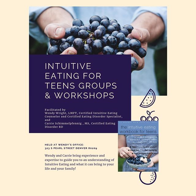 Certified Eating Disorder and Nutrition Support Experts talk about the new Intuitive Eating for Teens Workbook!⠀⠀⠀⠀⠀⠀⠀⠀⠀ ⠀⠀⠀⠀⠀⠀⠀⠀⠀ Intuitive Eating For TeensWORKSHOP FOR PARENTSTips on Talking to Your Teens about Food and Body Image from Intuitive Eating⠀⠀⠀⠀⠀⠀⠀⠀⠀ ⠀⠀⠀⠀⠀⠀⠀⠀⠀ Teens, Grandparents are Welcome to join!⠀⠀⠀⠀⠀⠀⠀⠀⠀ ⠀⠀⠀⠀⠀⠀⠀⠀⠀ June 11, 2019  6:30-7:30p⠀⠀⠀⠀⠀⠀⠀⠀⠀ ⠀⠀⠀⠀⠀⠀⠀⠀⠀ $20 per person, $50 max per family⠀⠀⠀⠀⠀⠀⠀⠀⠀ ⠀⠀⠀⠀⠀⠀⠀⠀⠀ Facilitated byWendy Wright, LMFT-S, CEDS-S, Certified Intuitive Eating Counselor [CIED], Financial Wellness Counselor, has over 18 years experience with Intuitive Eating, eating disorders of varied types and severity⠀⠀⠀⠀⠀⠀⠀⠀⠀ ⠀⠀⠀⠀⠀⠀⠀⠀⠀ wendywrightcounseling.com⠀⠀⠀⠀⠀⠀⠀⠀⠀ ⠀⠀⠀⠀⠀⠀⠀⠀⠀ Carrie Schimmelpfennig, MS, RD, CEDRD has over  3 years experience supporting eating disorder and disordered eating recovery, most recently at ACUTE ⠀⠀⠀⠀⠀⠀⠀⠀⠀ ⠀⠀⠀⠀⠀⠀⠀⠀⠀ Shinenutrition.care⠀⠀⠀⠀⠀⠀⠀⠀⠀ ⠀⠀⠀⠀⠀⠀⠀⠀⠀ go to wendywrightcounseling.com/resources to sign up!!⠀⠀⠀⠀⠀⠀⠀⠀⠀ ⠀⠀⠀⠀⠀⠀⠀⠀⠀ ⠀⠀⠀⠀⠀⠀⠀⠀⠀ #financialwellness #financialtherapy #financialtherapist⠀⠀⠀⠀⠀⠀⠀⠀⠀ #money #finance #wellness #budget⠀⠀⠀⠀⠀⠀⠀⠀⠀ #moneyandmilkshakes #personalfinance⠀⠀⠀⠀⠀⠀⠀⠀⠀ #foodfreedom #intuitiveeating #eatingdisorderrecovery ⠀⠀⠀⠀⠀⠀⠀⠀⠀ #recovery #edrecovery #haes #mentalhealth⠀⠀⠀⠀⠀⠀⠀⠀⠀ #wholelifewellness
