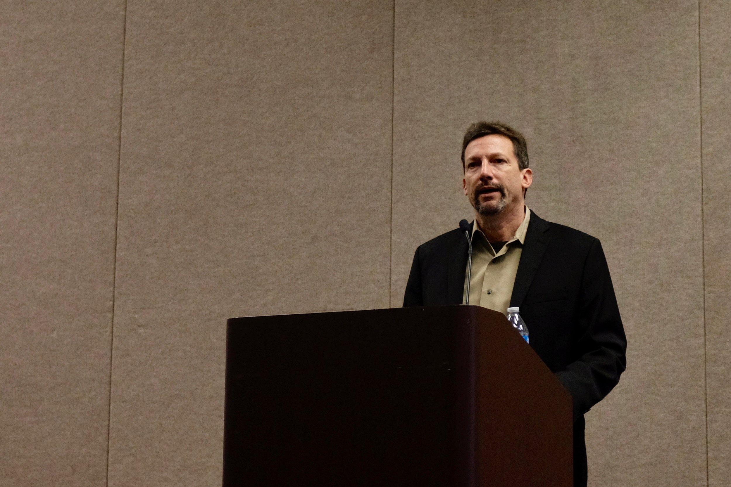 Jason Hartlove, CEO, Nanosys, presenting at the 2018 DSCC Future Display conference in Santa Clara
