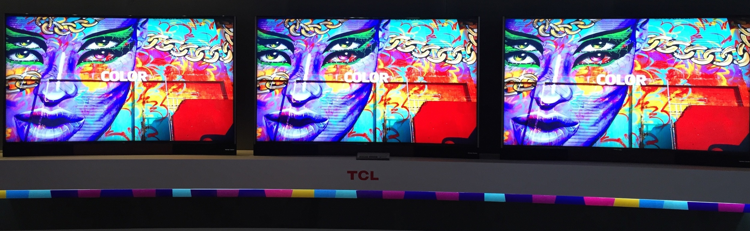 TCL QLED2.0 TV at IFA 2015 showing DolbyVision content specially mastered to take advantage of it's Quantum Dot-enhanced color capabilities.