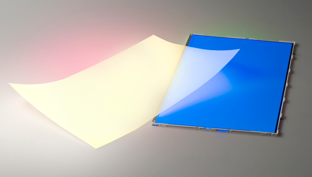 QDEF quantum dot LCD film from Nanosys with blue LED backlight