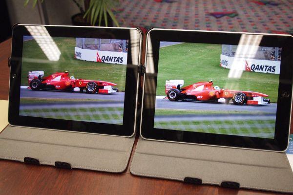 Quantum Dot display comparison showing vivid color of Nanosys QDEF display Apple iPads
