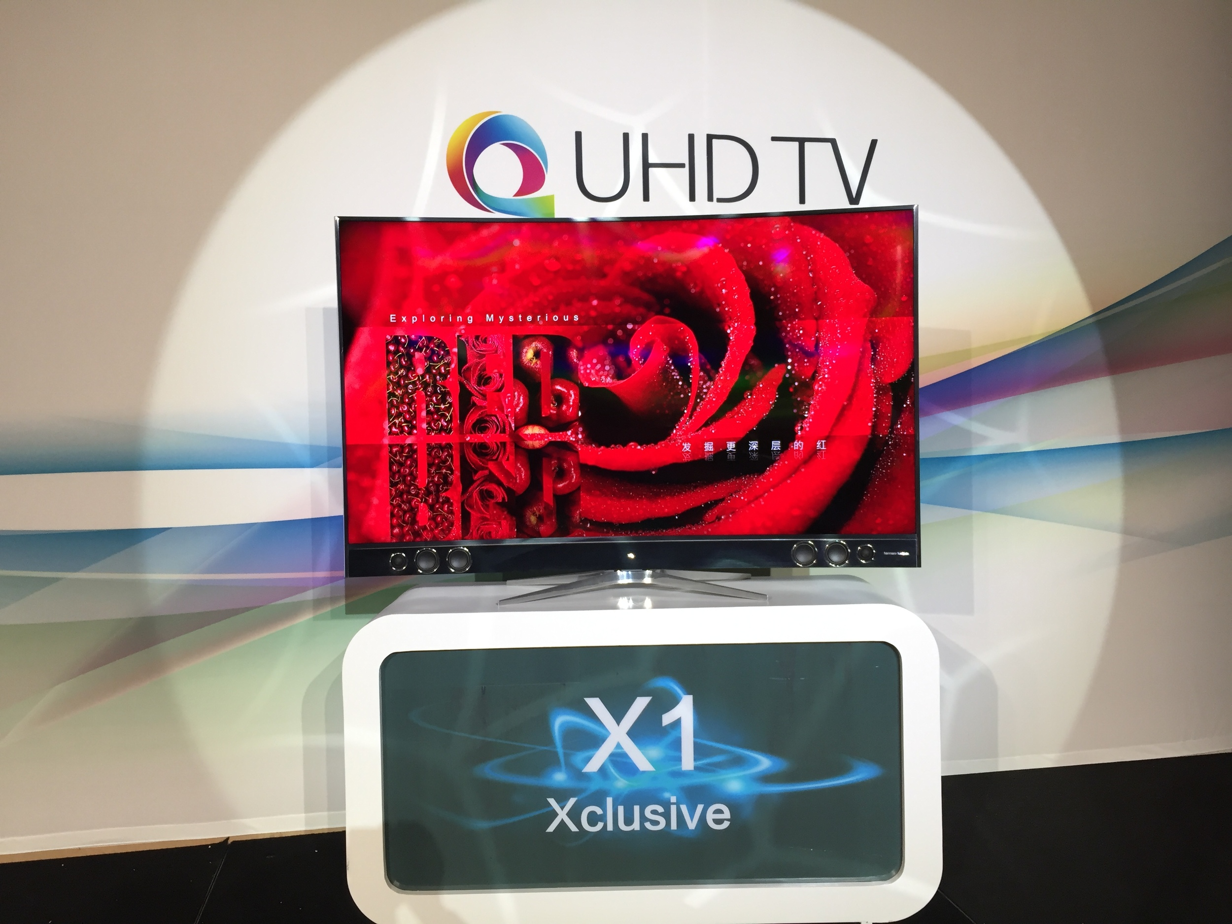 TCL QUHD TV with Nanosys Quantum Dot Technology at CES 2016