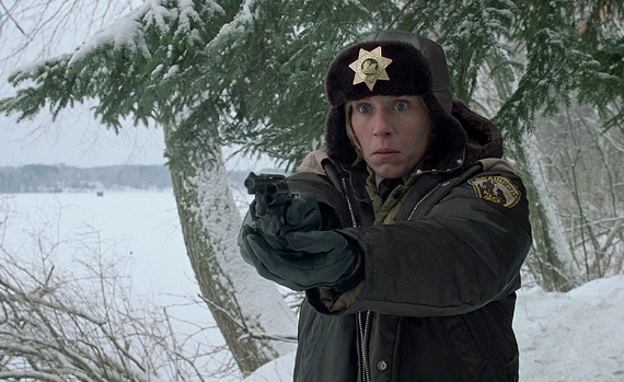 The Coen brothers famously used a cool, blue-green cast in the movie Fargo to convey the cold of both a North Dakota winter and of some of their characters' psyches.