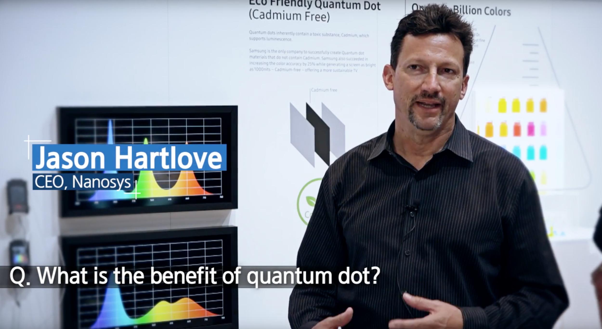 Nanosys CEO, Jason Hartlove (Image Credit: Samsung)