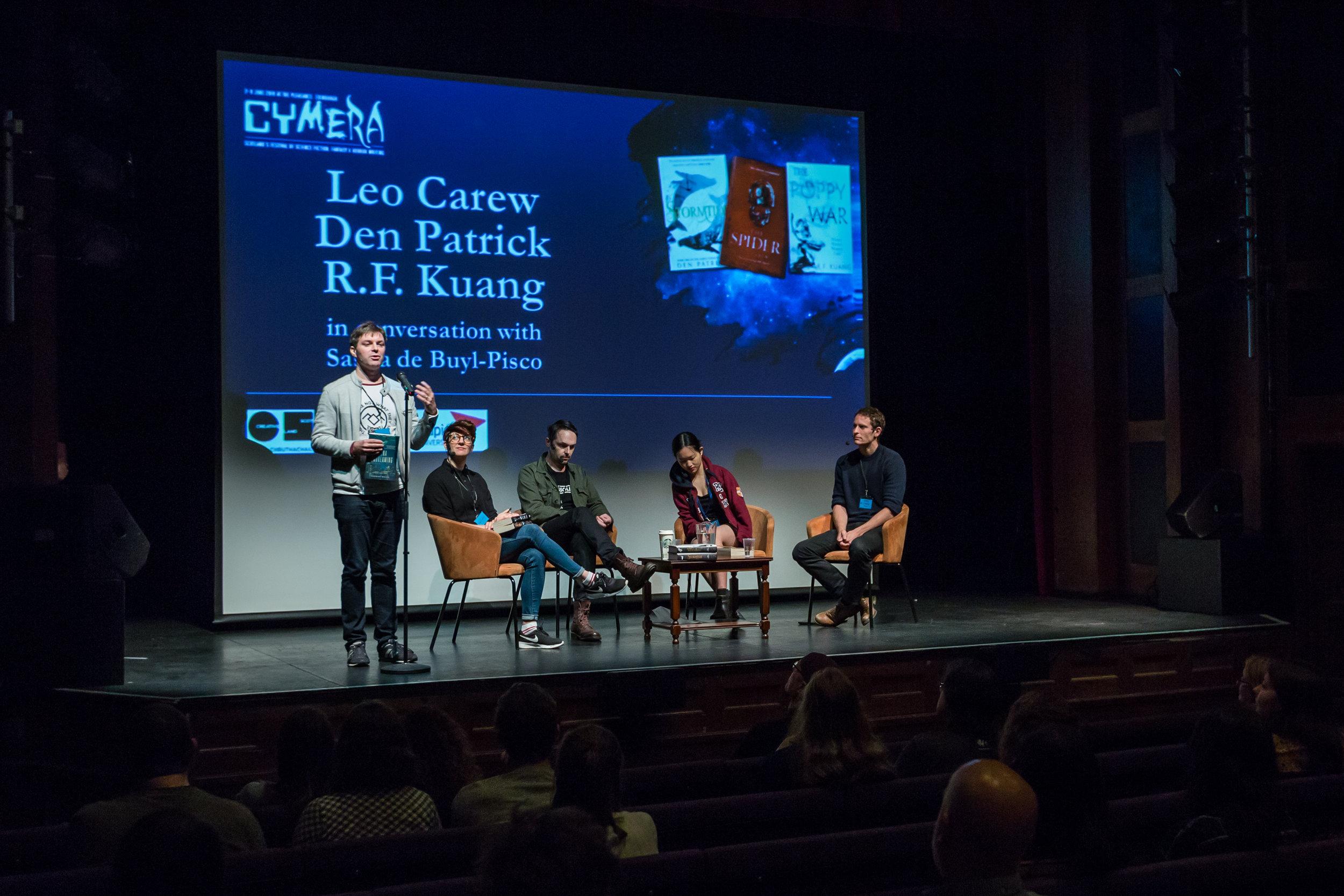 L-R  Thomas Welsh, Sasha De Buyl, Den Patrick, R.F. Kuang and Leo Carew  Photo credit: Chris Scott