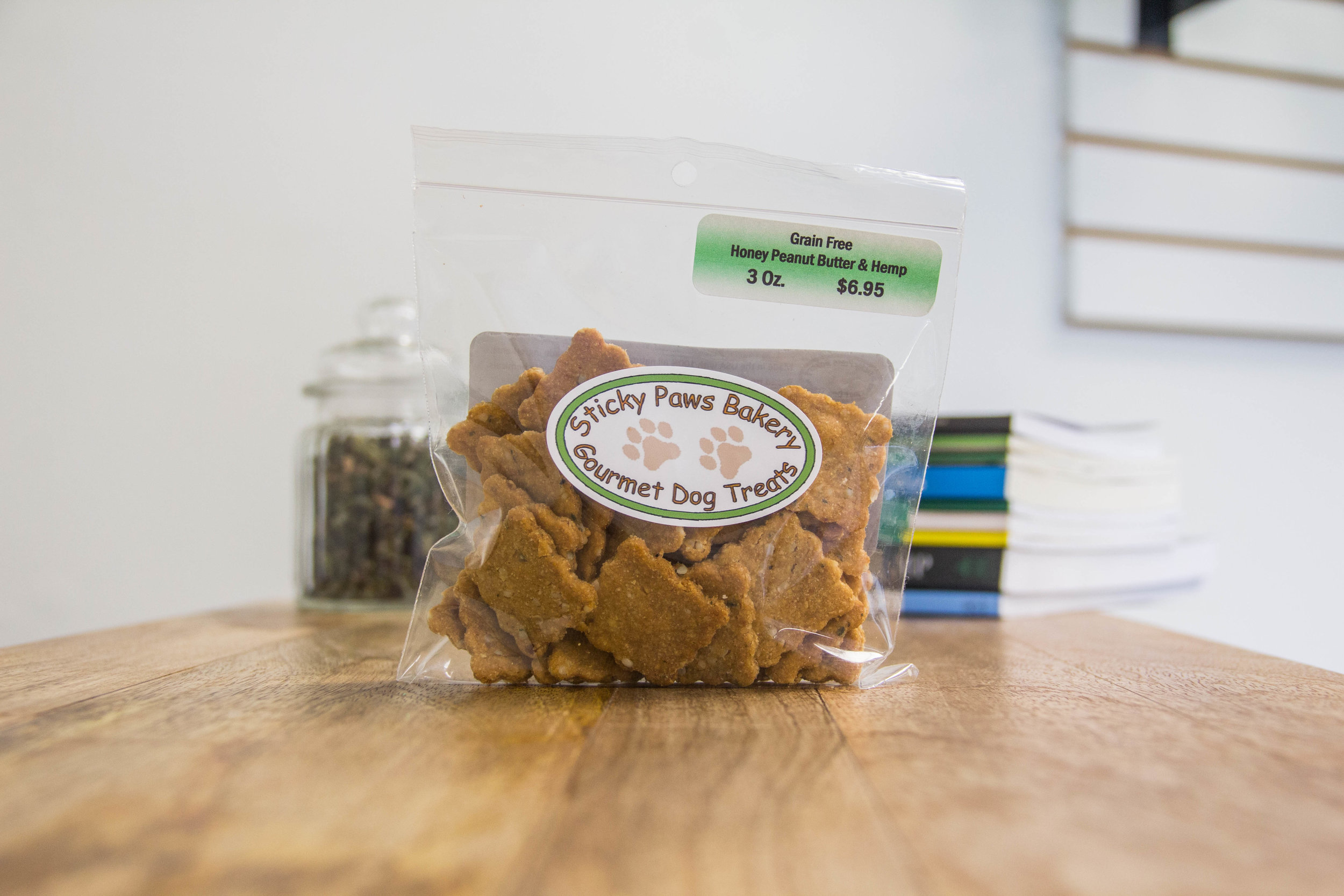 Sticky Paws Bakery - honey peanut butter and  hemp