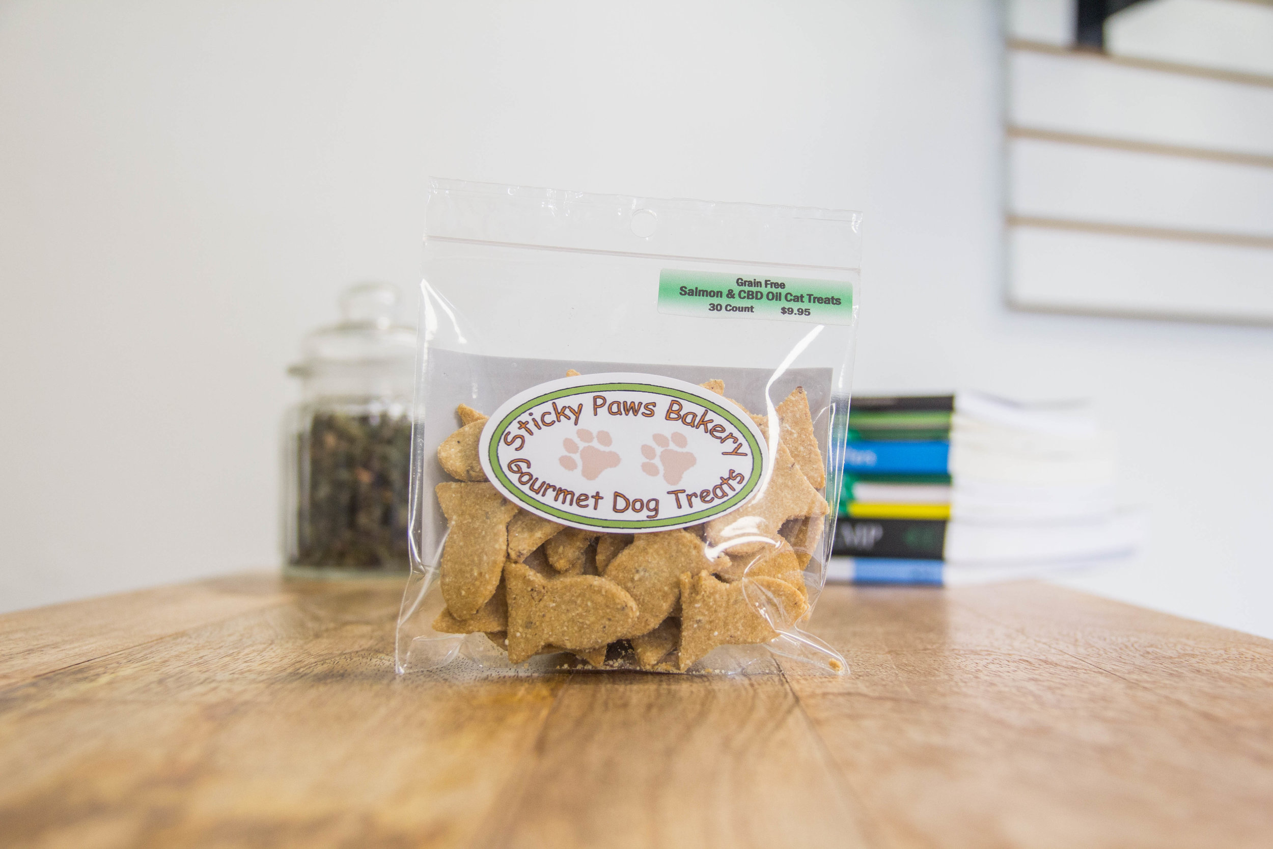 Sticky Paws Bakery - salmon and cbd oil cat treats
