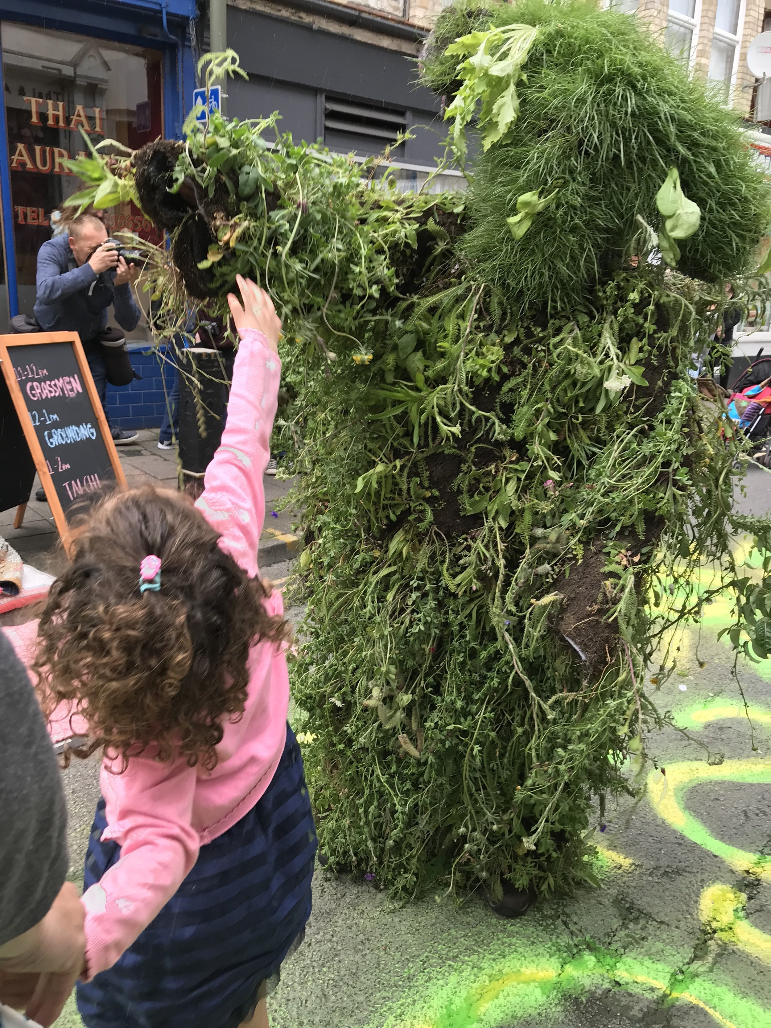 Winner Street Party - a road closure, some grass men and lots of activities and colour!