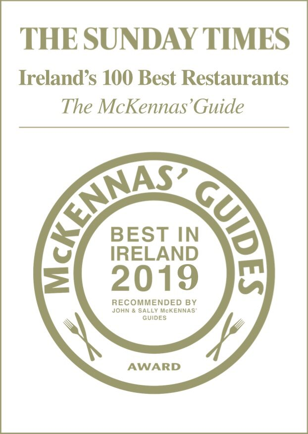 We are honoured to be included in this years Top 100 restaurants in Ireland!