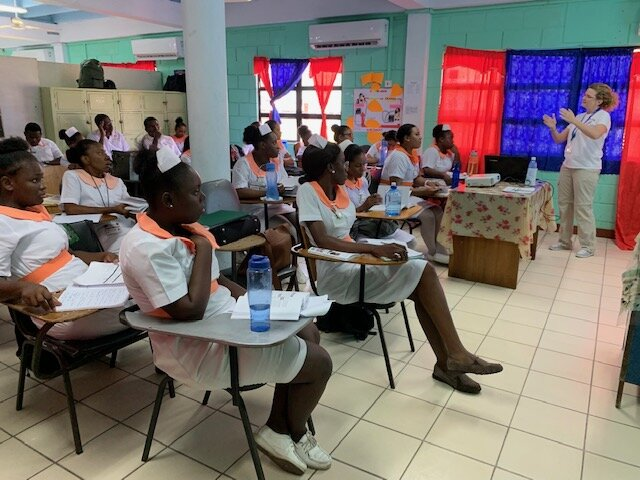 Patricia Ducharme, Director of RAD-AID Nursing, supporting Guyana's nurse education program for radiology services.