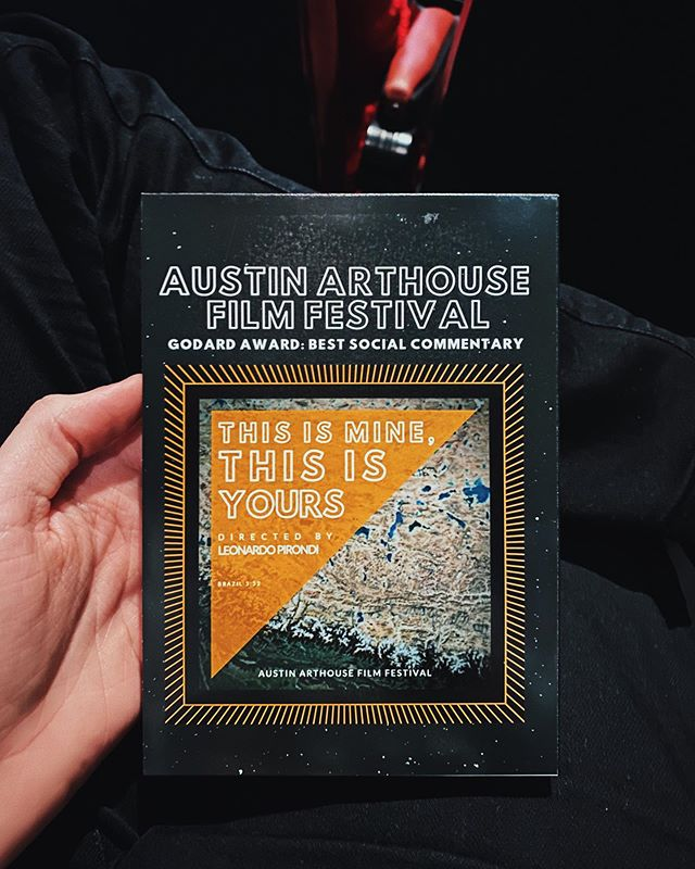 "Last night my film ""This is Mine, This is Yours"" premiered at the @austinarthouse and won the award for best social commentary. - I had such a good time with all the filmmakers and again thank you @elizabethtabish and @thegoodshoppe for everything! 🧡👁✋🏻"