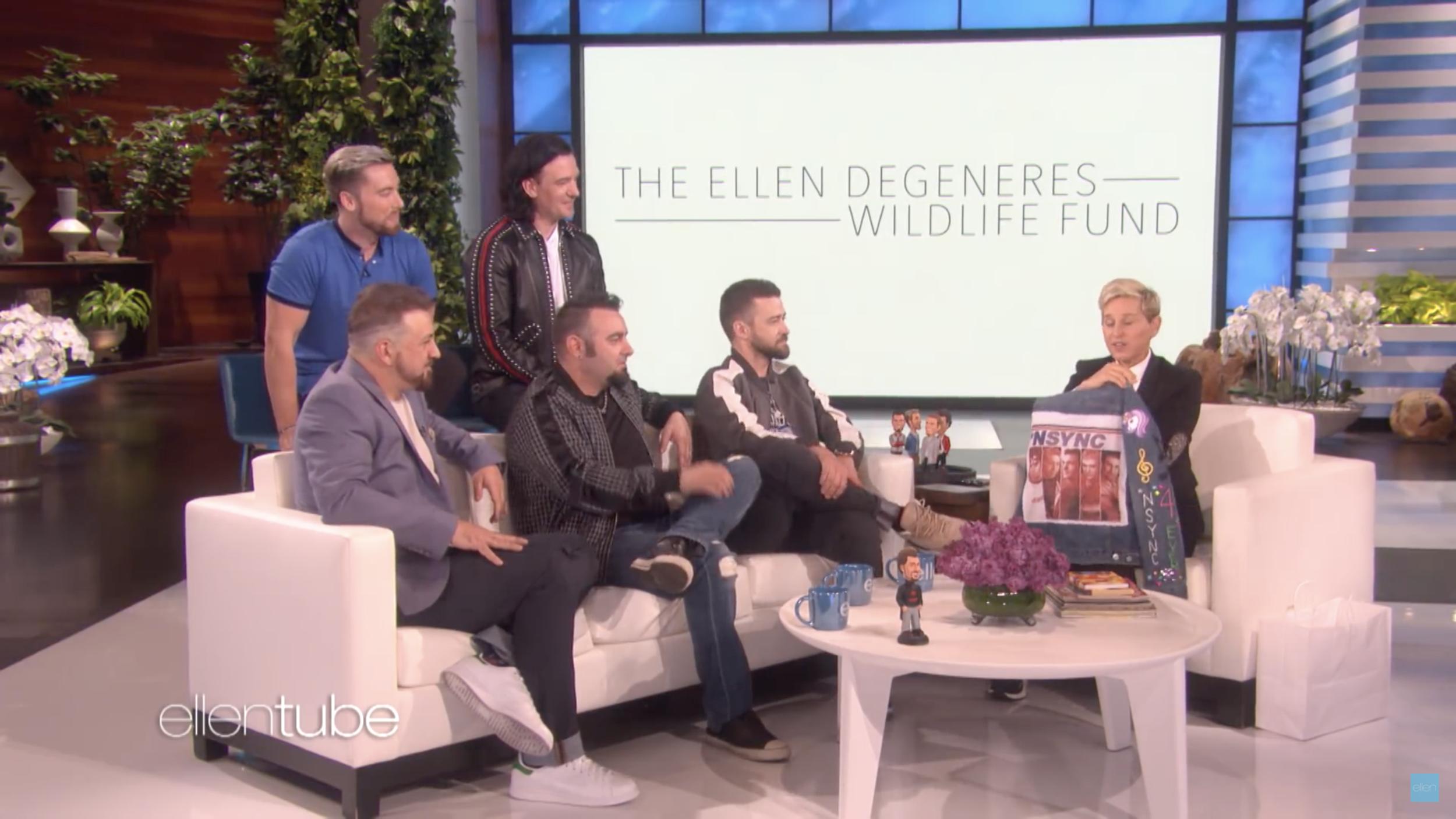 NSYNC on Ellen supporting Ellen Fund.png
