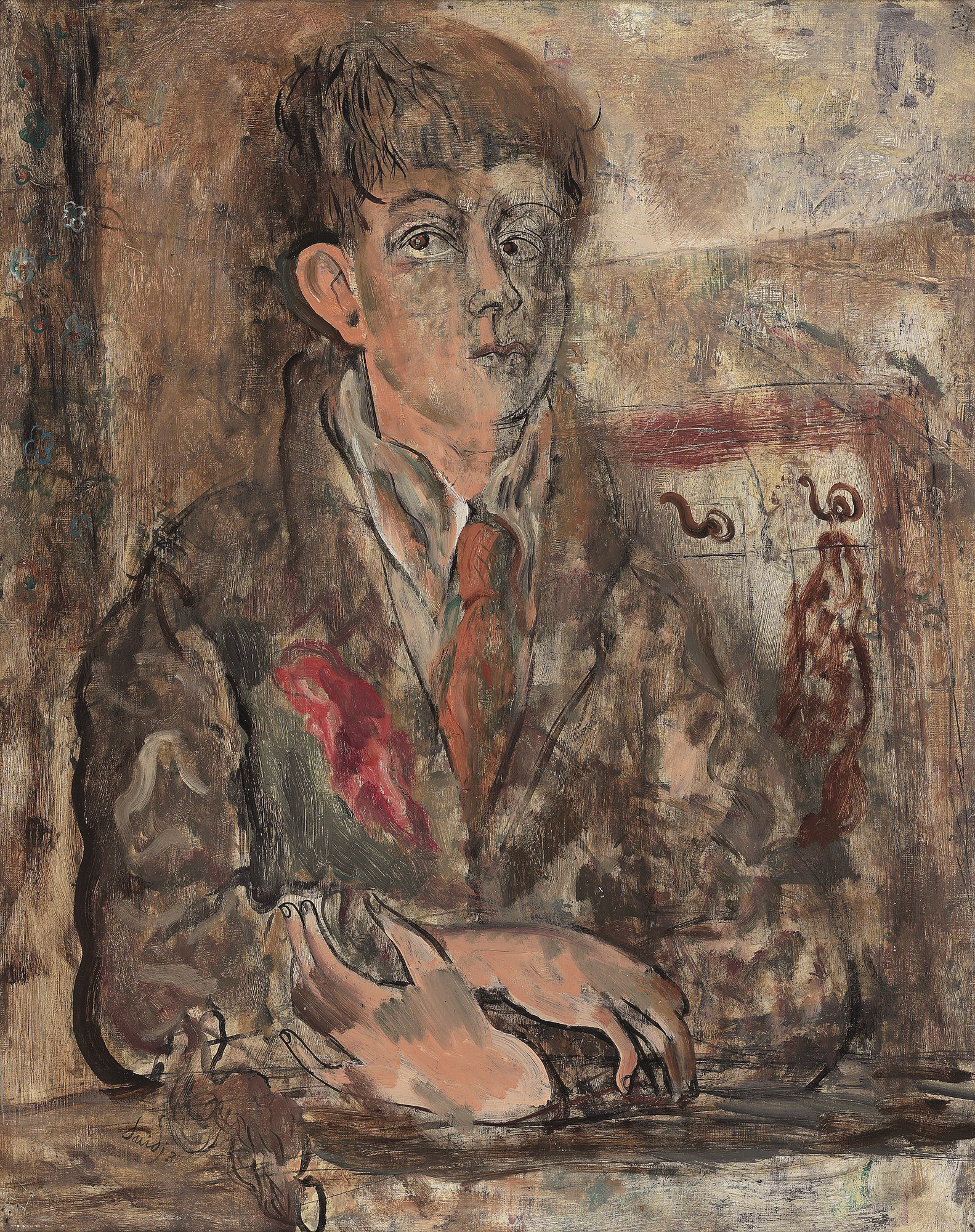 David Jones,  Human Being  (self-portrait), 1931