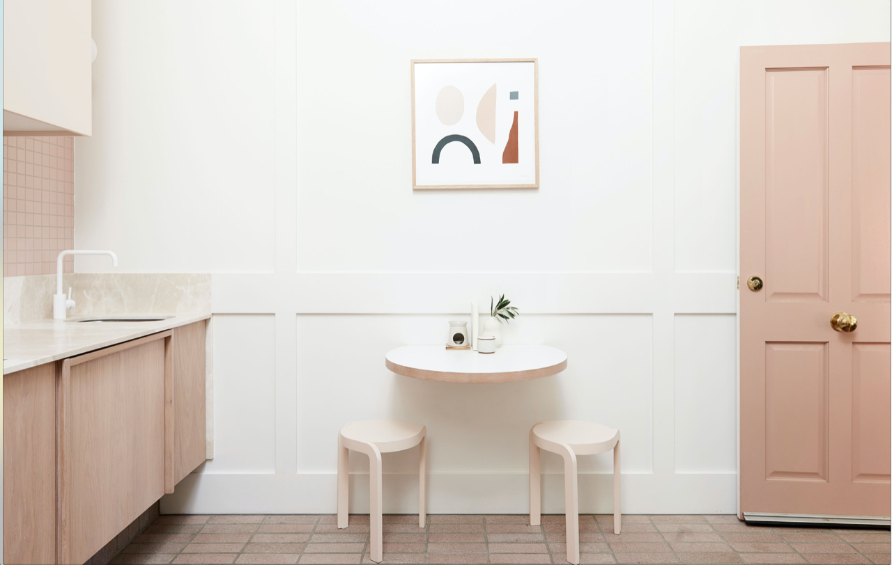 Custom dining table. Photography Eve Wilson for The Design Files.
