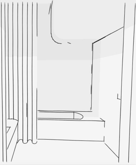 Bathroom curves, work in progress.