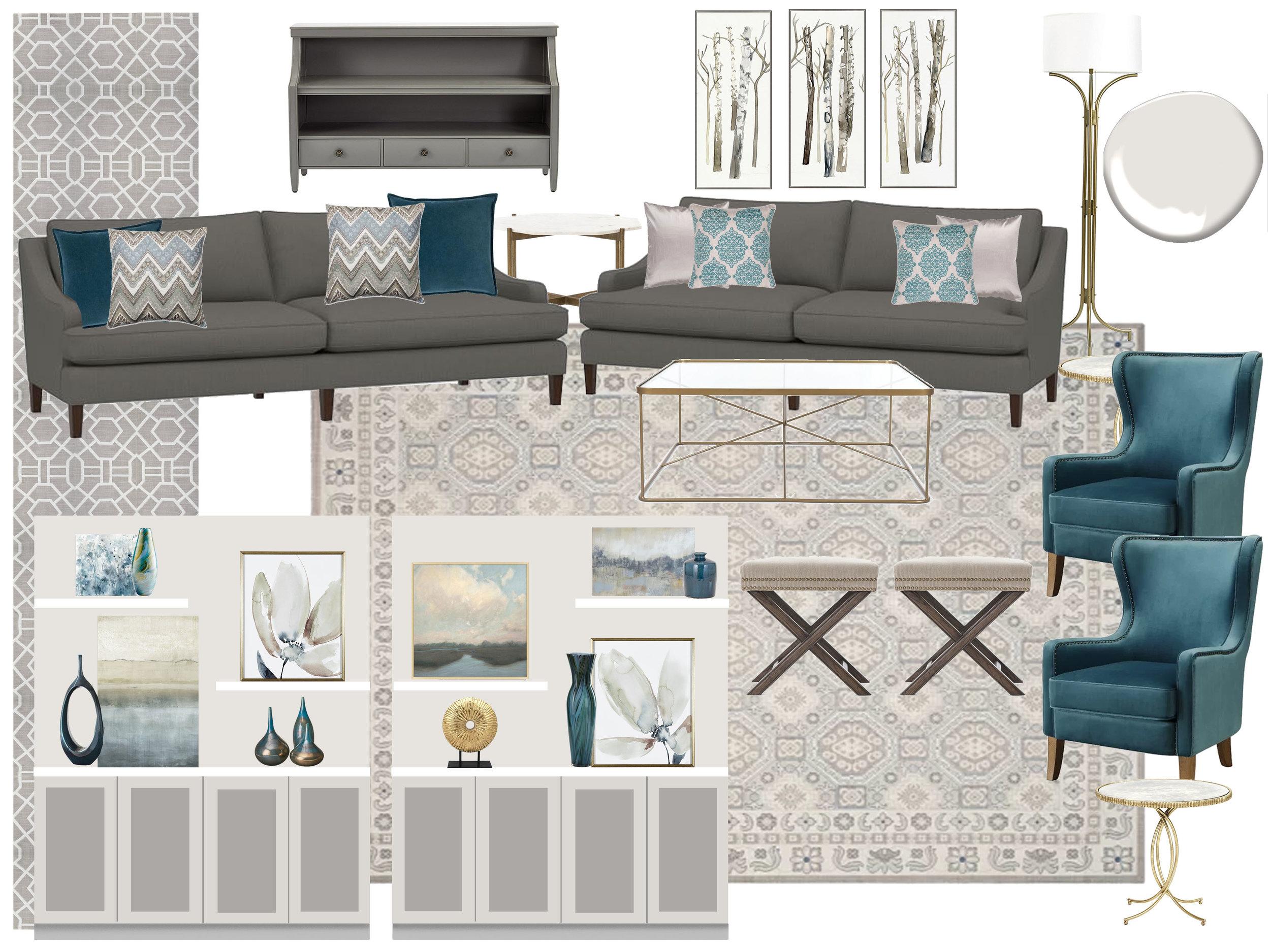 Living Room Studio Z Interior Design