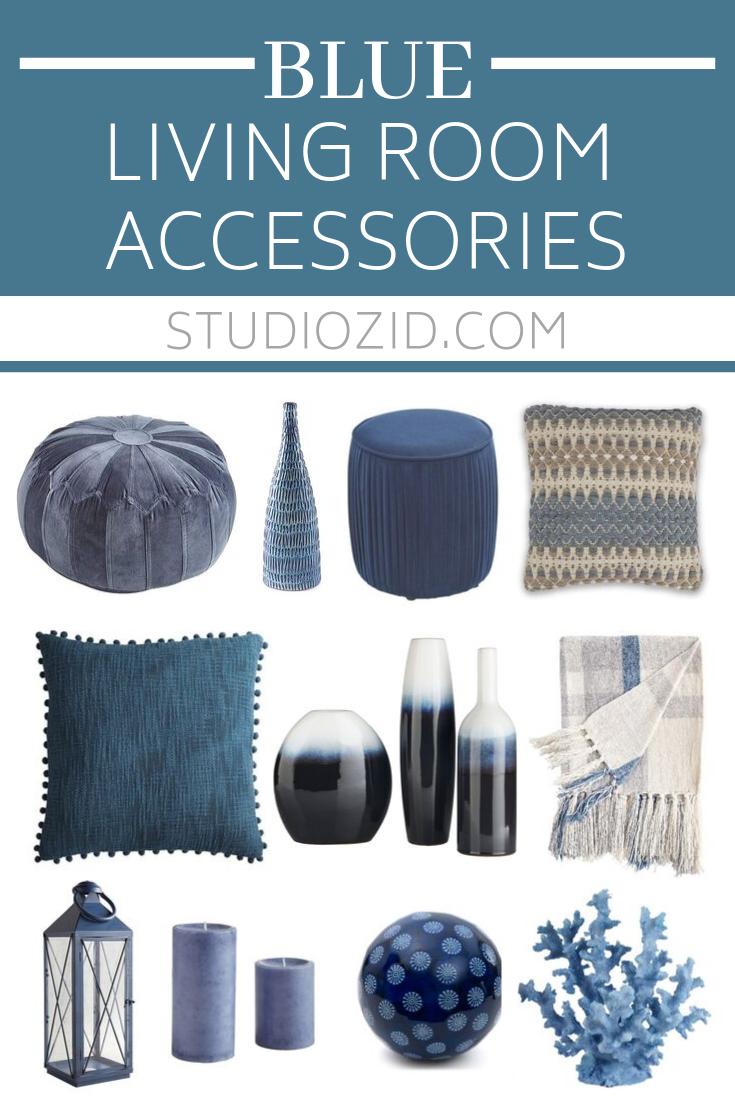 Blue Living Room Accessories Studio, Living Room Accessories