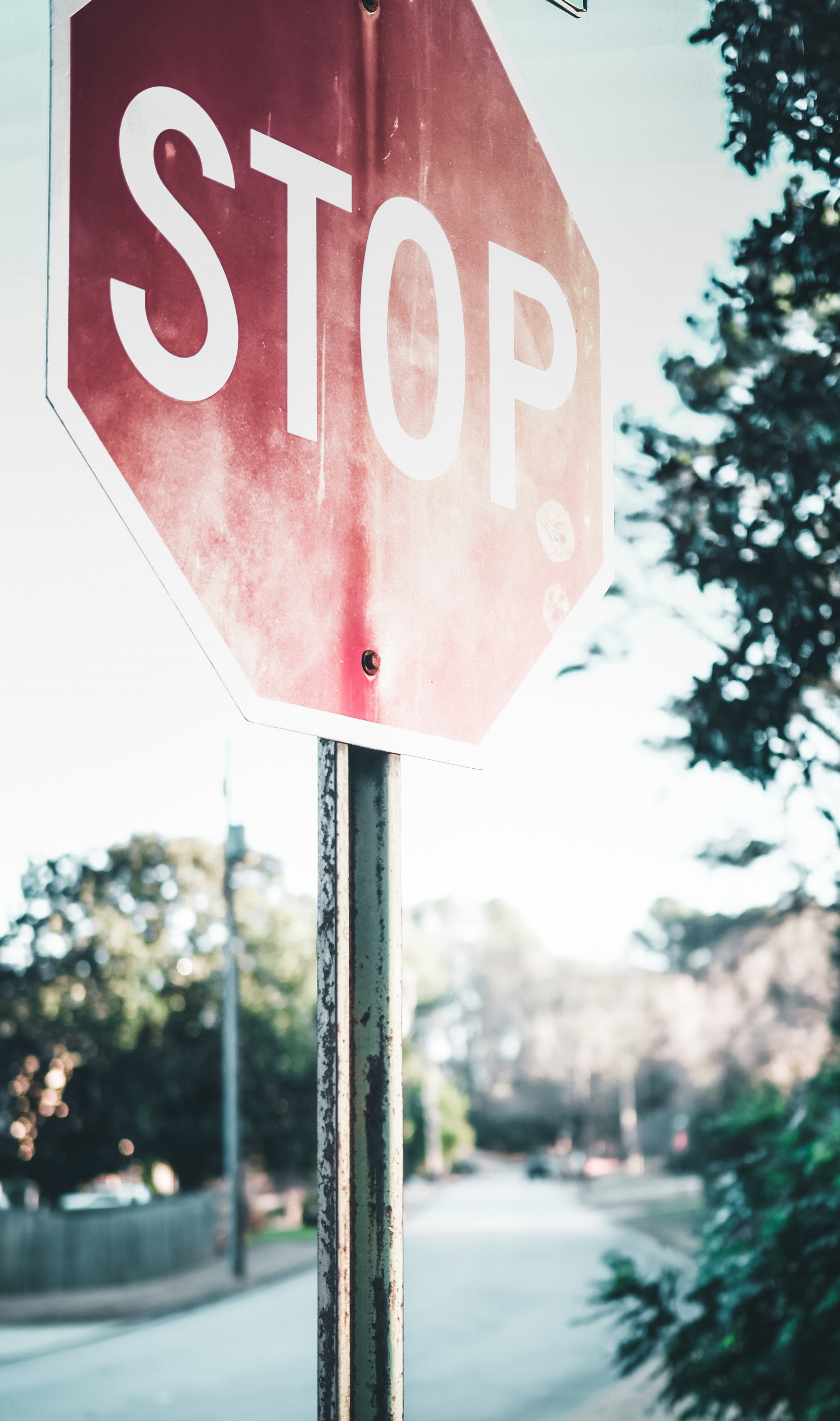 Stop sign to indicate stopping weight gain
