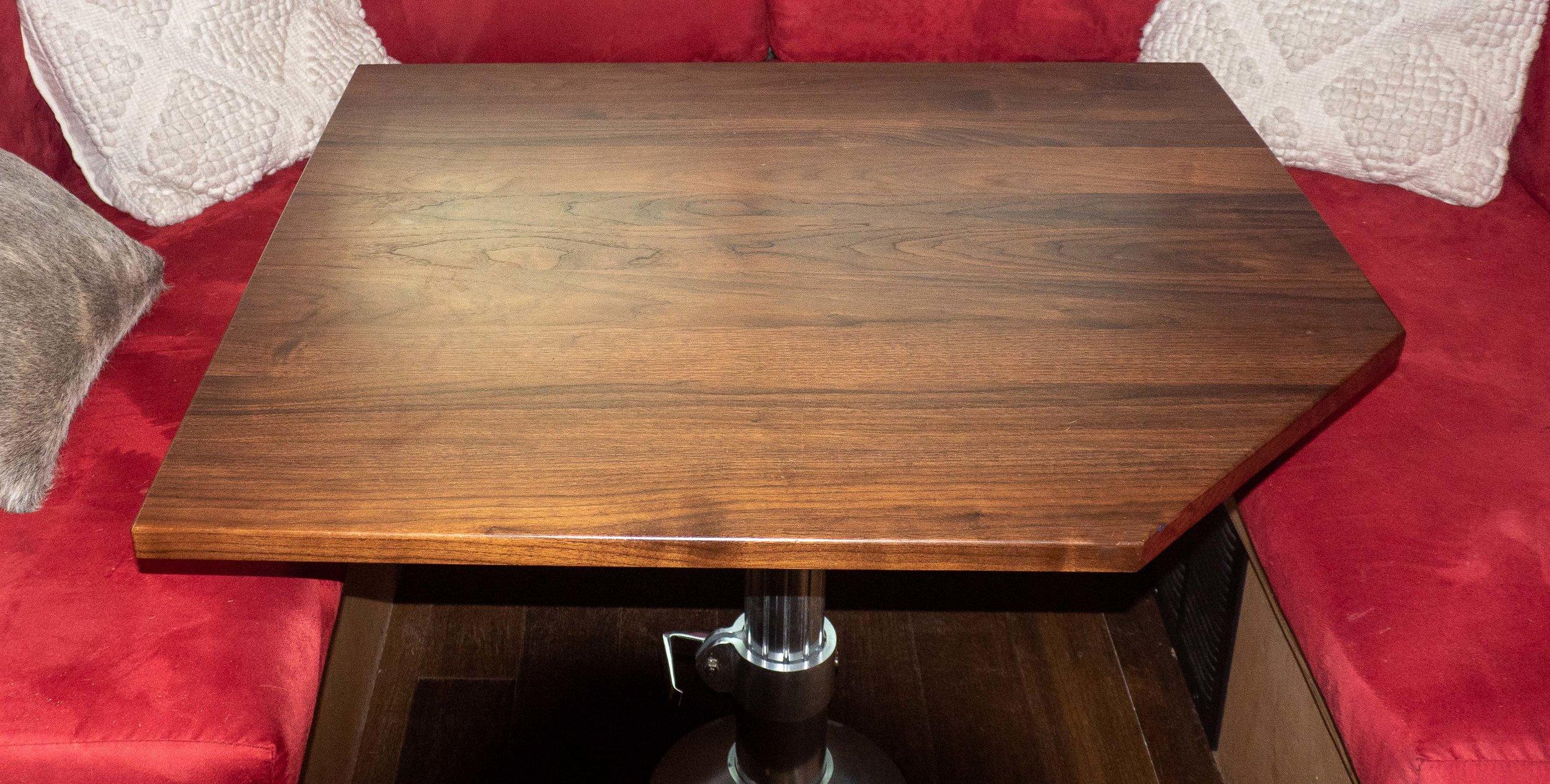 solid walnut tabletop