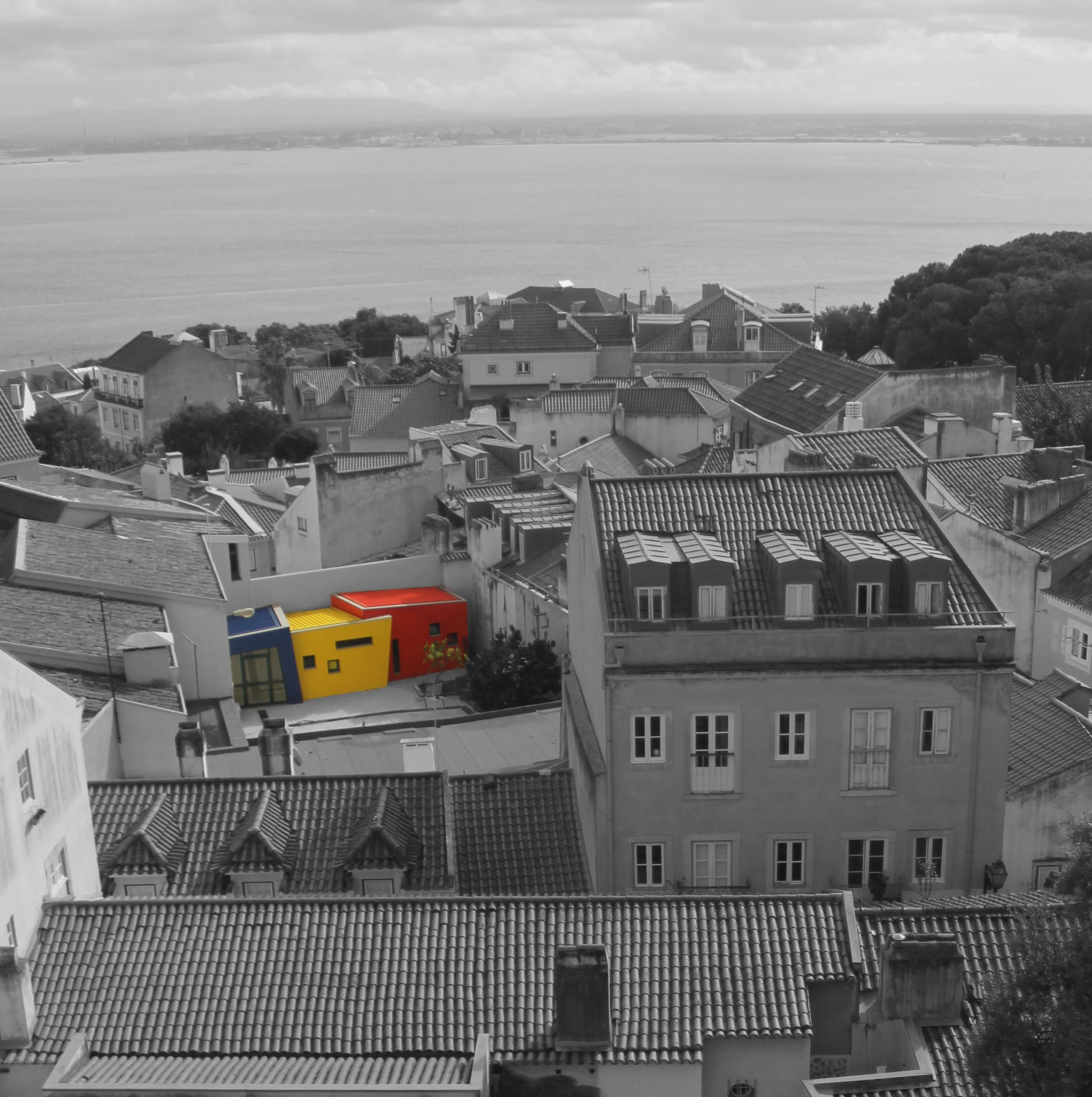 Contrast of the future - Lisbon, Portugal (Captured by Emily Sproule)