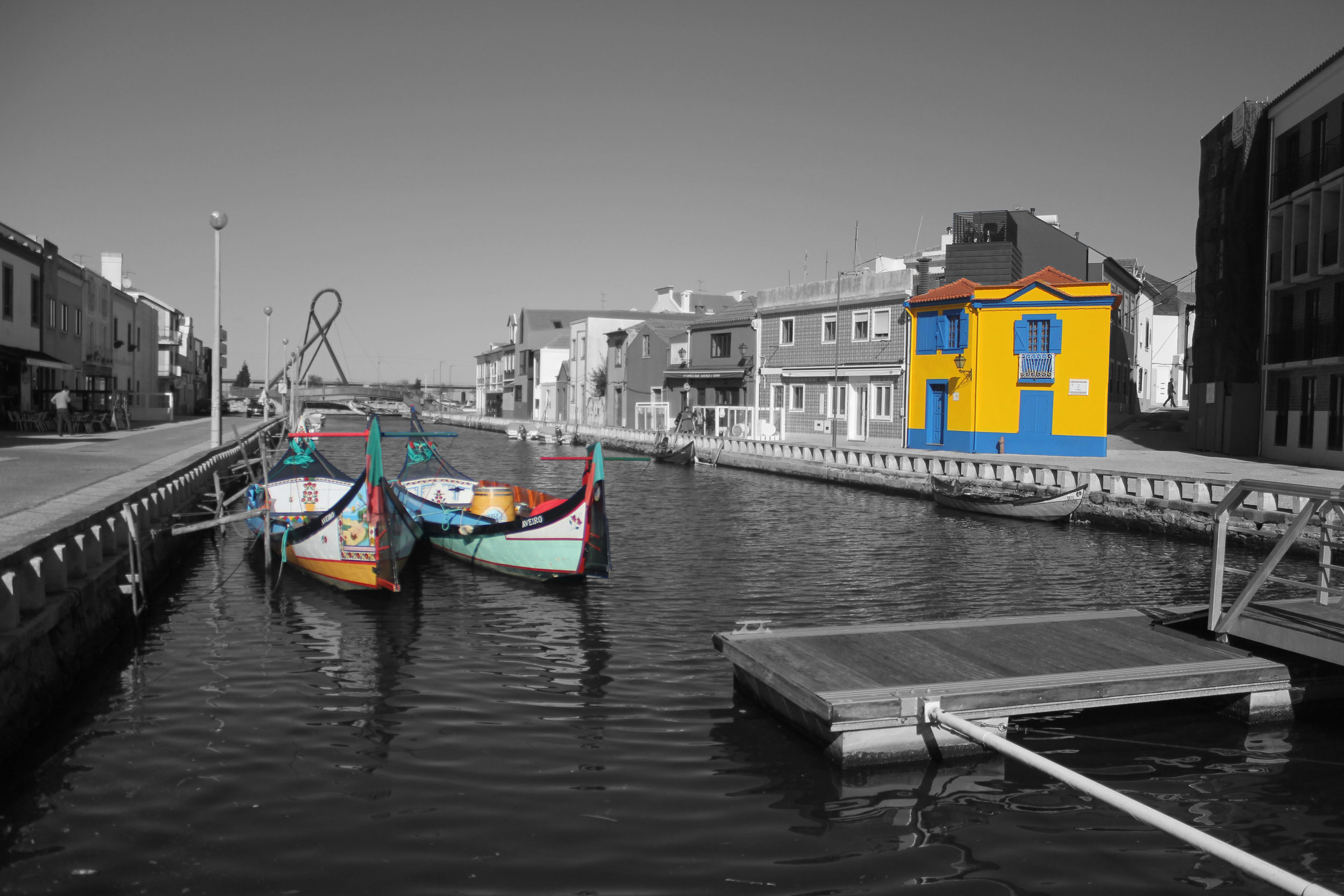 A city navigated by barcos moliceiros - Aveiro, Portugal (Captured by Emily Sproule)