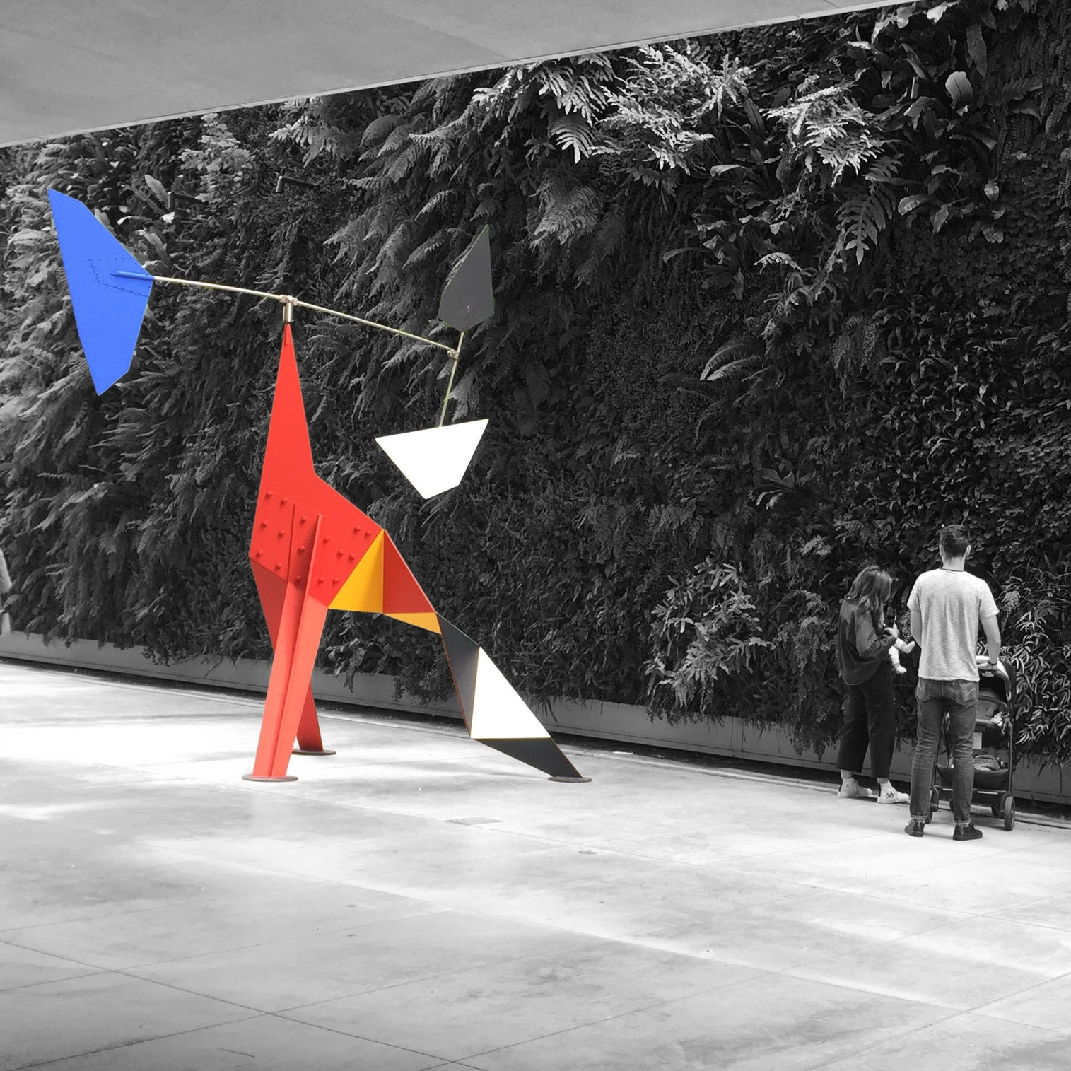 Alexander Calder & green wall - MOMA San Francisco. USA (Captured by Emily Sproule)
