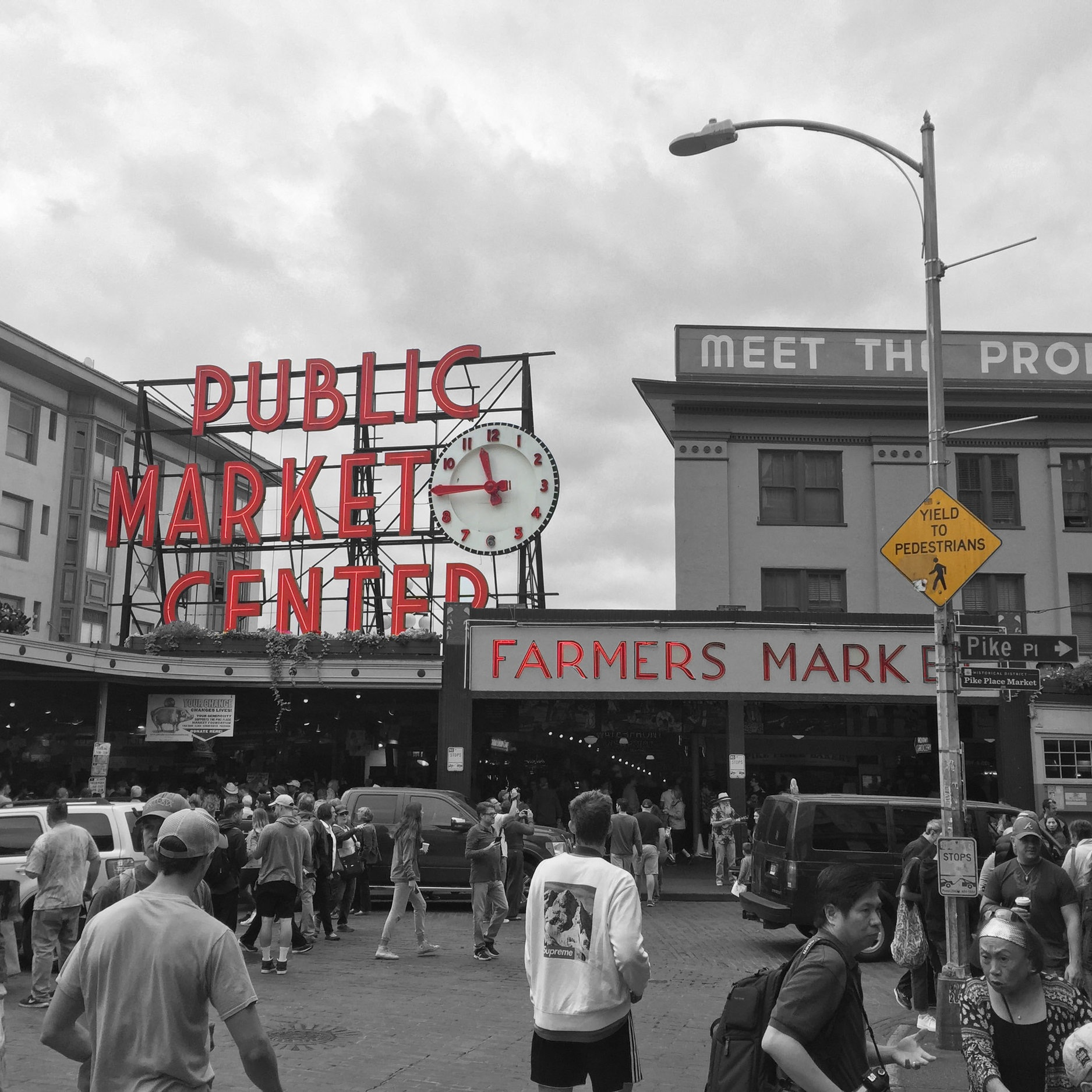 A pike yielding to pedestrians - Seattle, WA. USA (Captured by Emily Sproule)