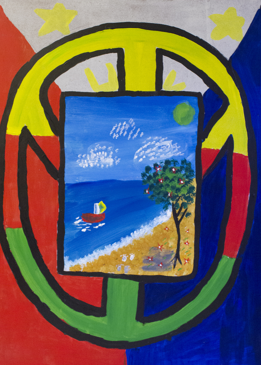 """""""Raise me up"""" — The sea is about relaxation. The tree and the flowers are soothing to oneself. I am swimming in the sea, with no worries. - Princess Ayath Ali, The Philipines"""