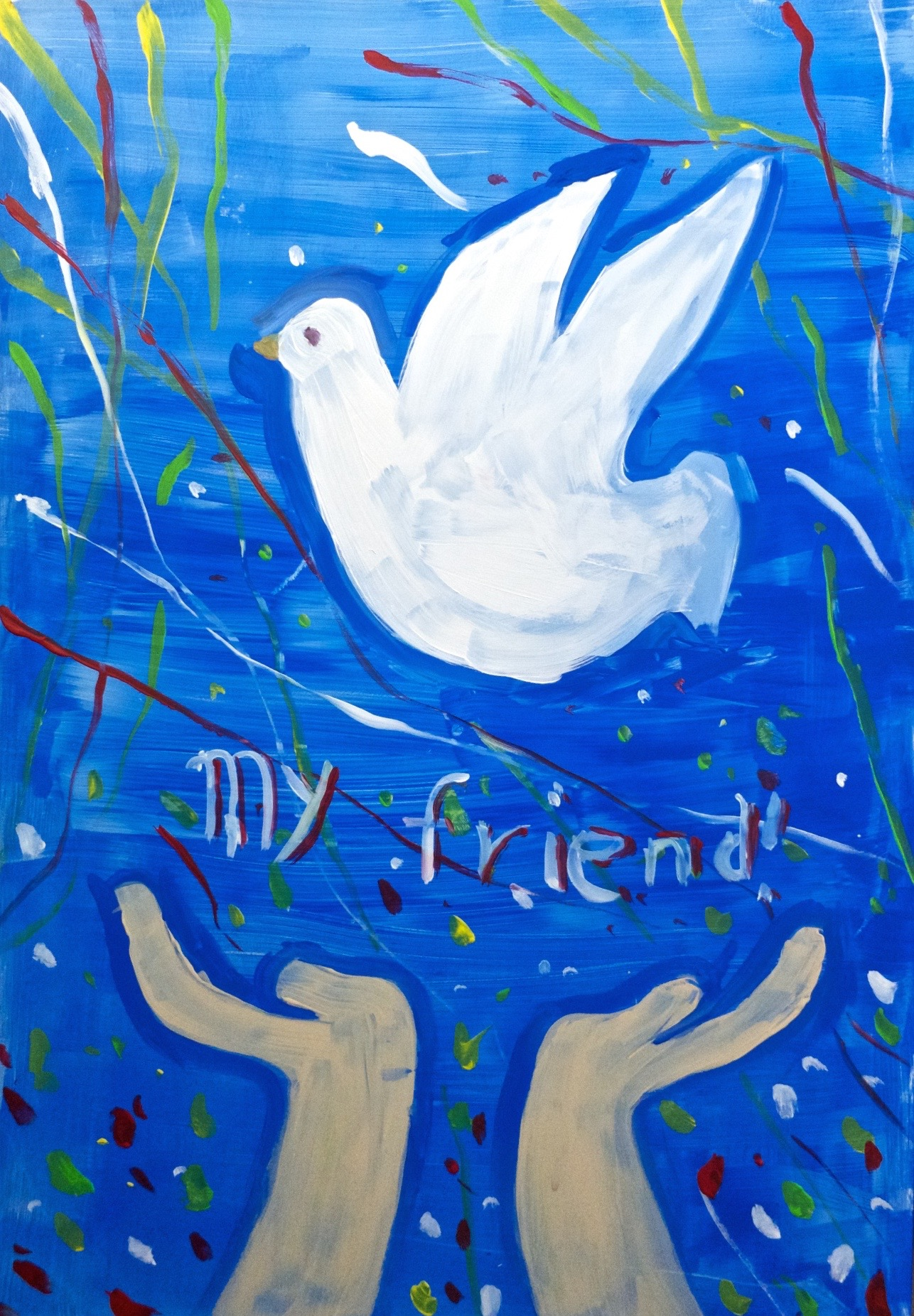 """""""I set my friend the dove free to the open sky"""