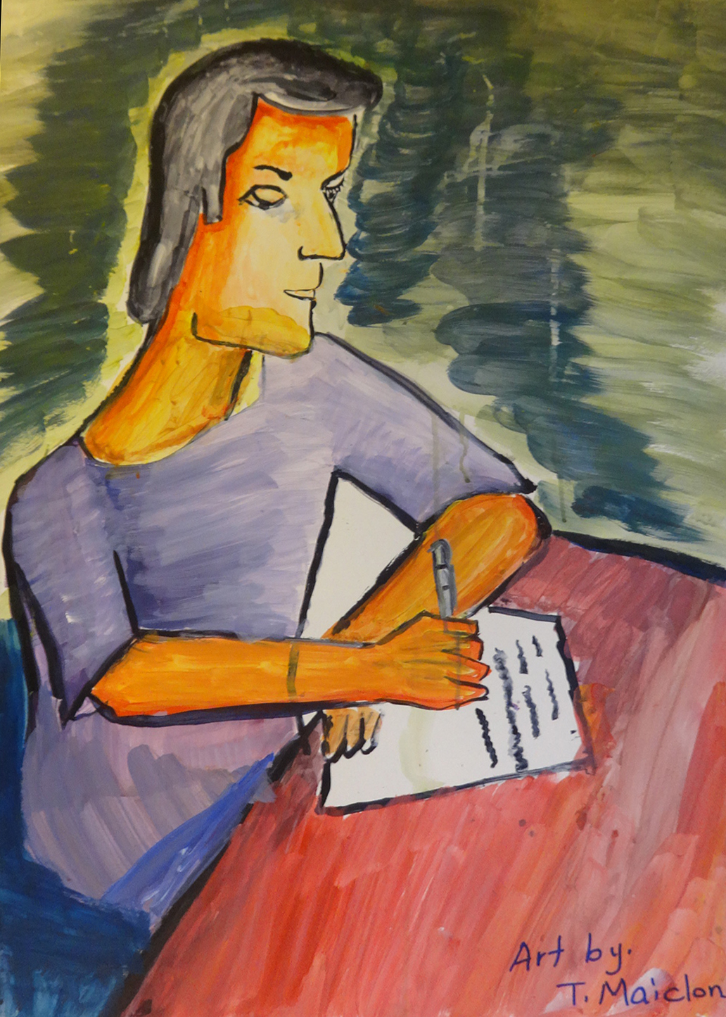 """Writing the letter"" - T. Maiclon, Sri Lanka"