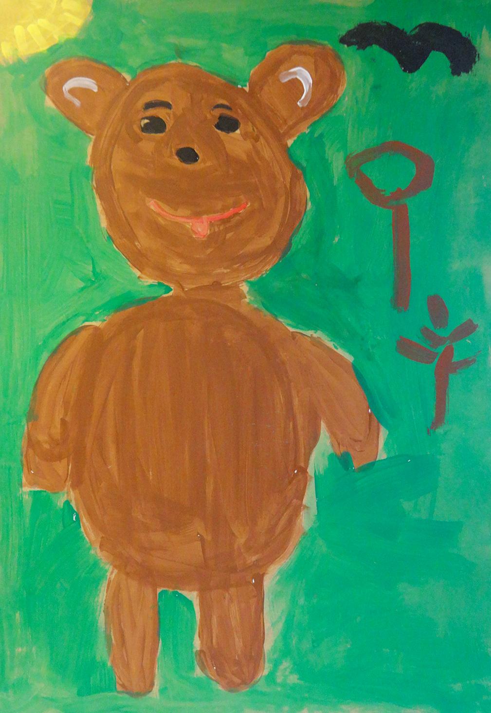 """""""The bear with the three hearts"""" - Ljubomira, Bulgaria"""
