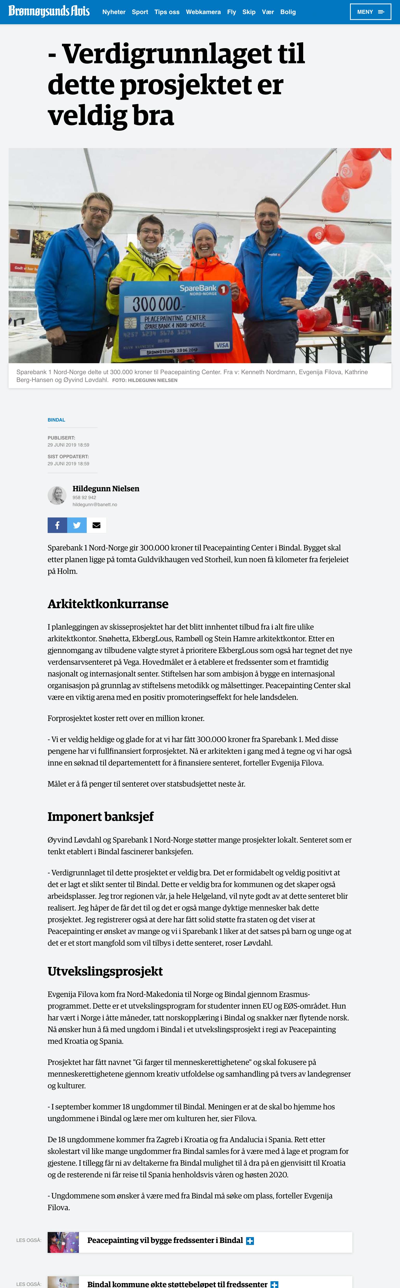Brønnøysunds Avis, Hildegunn Nielsen